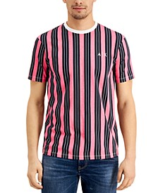 Men's All Over Vertical Stripe T-Shirt, Created for Macy's