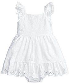 Baby Girls Eyelet Cotton Dress & Bloomer