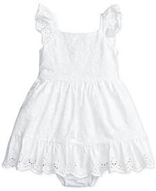 폴로 랄프로렌 여아용 원피스 Polo Ralph Lauren Baby Girls Eyelet Cotton Dress & Bloomer