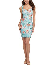 Floral-Print Bodycon Dress