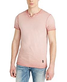 Men's Kawind Jersey Knit Henley T-Shirt