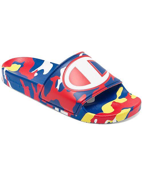 Champion Big Boys' IPO Camo Slide Sandals from Finish Line