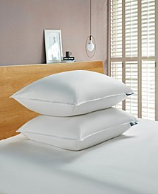 White Goose Feather And Down Fiber Bed Pillow-Back Sleeper - 2 Pack, Jumbo