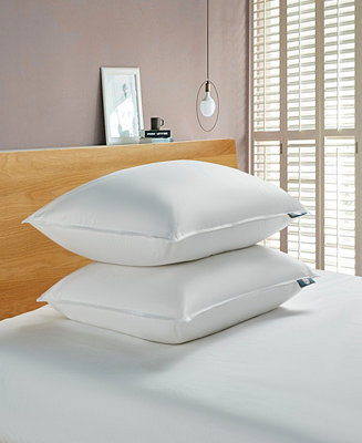Serta White Goose Feather And Down Fiber Bed Pillow Back