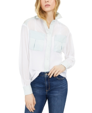 Guess BESSIE EMBELLISHED COLORBLOCKED SHIRT