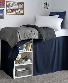 Solid Twin XL Dorm Bedskirt