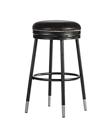 Valera Decorative Backless Metal Swivel Counter Height Stool with Capped Legs