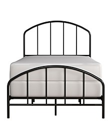 Tolland Arched Spindle Metal Bed, Twin