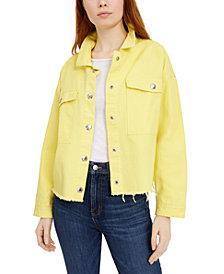 Calvin Klein Jeans Drop-Shoulder Cotton Denim Jacket