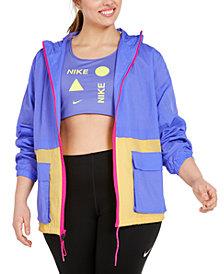 Nike Plus Size Hooded Zip-Front Jacket