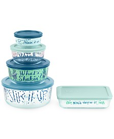Decorated What's Shaking 10-Pc. Food Storage Container Set