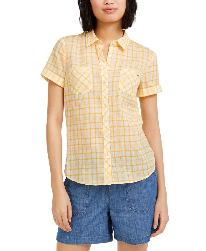 Tommy Hilfiger - Heathered Plaid Camp Shirt