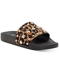 INC Peymin Pool Slide Sandals, Created for Macy's