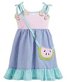 Baby Girls Gingham Seersucker Watermelon Dress