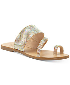 INC Gianolo Embellished Toe-Ring Flat Sandals, Created for Macy's