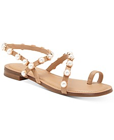 INC Jayden Embellished Toe-Ring Flat Sandals, Created for Macy's
