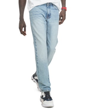 Tommy Hilfiger Men's Vintage Athletic-Tapered Fit Stretch Jeans