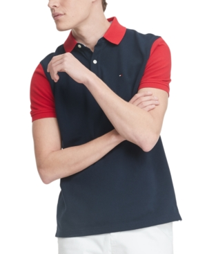 Tommy Hilfiger Men's Harley Custom-Fit Colorblocked Polo Shirt