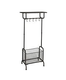 Rogers Metal Entryway Storage Rack