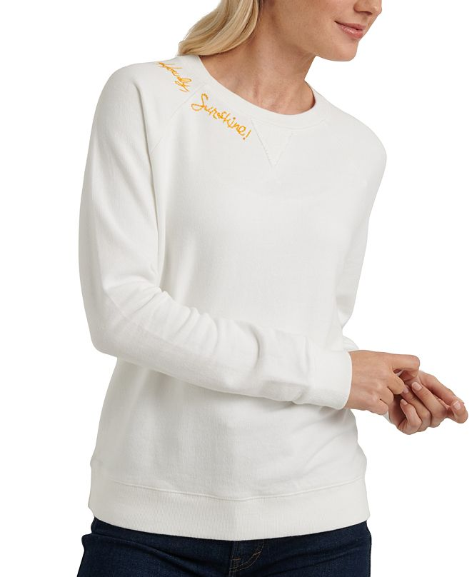 Lucky Brand Howdy Sunshine Embroidered Sweatshirt