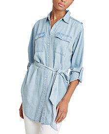 Lauren Ralph Lauren Lightweight Belted Linen Shirt