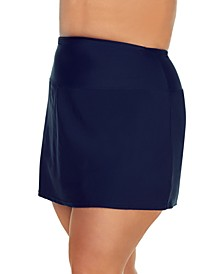 Plus Size Tummy-Control Swim Skirt, Created for Macy's