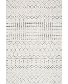 "Bodrum Moroccan Blythe Gray 6'7"" x 9' Area Rug"