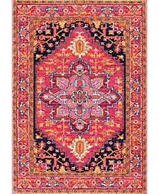 "Bodrum Fancy Persian Vonda Pink 5' x 7'5"" Area Rug"