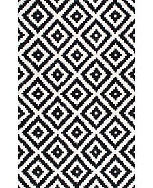 Harmony Contemporary Kellee Black 6' x 9' Area Rug