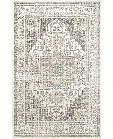 """Manor Vintage-Inspired Tanith Cream 6'7"""" x 9' Area Rug"""
