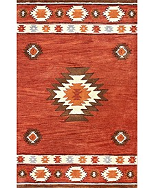 Florence Shyla Abstract Wine 5' x 8' Area Rug