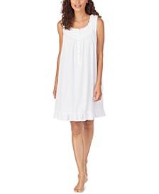 Cotton Snap-Shoulder Nursing Nightgown