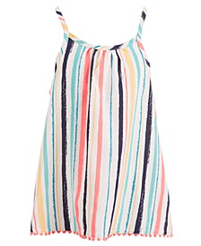 Big Girls Striped Challis Tank Top, Created for Macy's