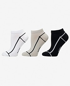 Women's 3-Pk. Outlined Low-Cut Socks