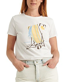 Beach-Chair-Graphic T-Shirt