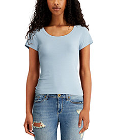 Derek Heart Juniors' Lace-Up Back Top