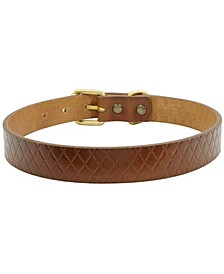 Gambit Leather Dog Collar, Small