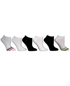 Women's Star Stripe Low Cut Socks, Pack of 6