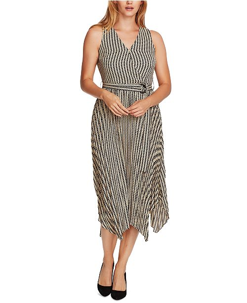 Vince Camuto Striped Belted Dress