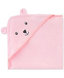 Baby Girls Hooded Cotton Bear Towel
