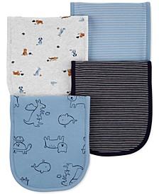 Baby Boys 4-Pk. Animal Burp Cloths