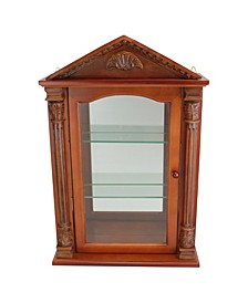 Essex Hall Hardwood Wall Curio Cabinet