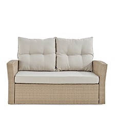 Canaan All-Weather Wicker Outdoor Seat Love Seat with Cushions