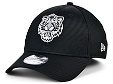 Detroit Tigers   Clubhouse Black White 39THIRTY Cap