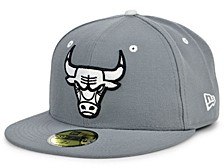 Chicago Bulls Storm Black White Logo 59FIFTY Cap