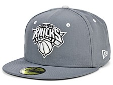 New York Knicks Storm Black White Logo 59FIFTY Cap