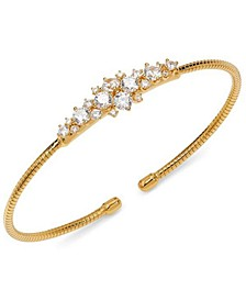 Cubic Zirconia Cluster Cuff Bracelet, Created for Macy's