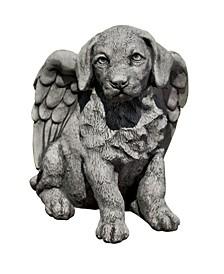 Angel Puppy Garden Statue