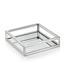 Mirrored Napkin Holder with Chrome Rails