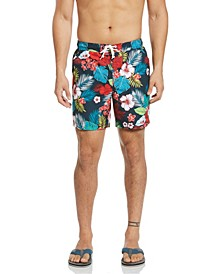 "Men's Floral Print 6"" Swim Trunk"